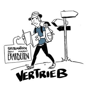 business illustration zum thema Vertrieb
