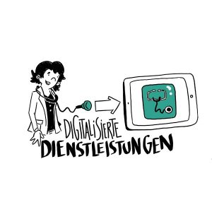 business illustration zum thema digitalisierung